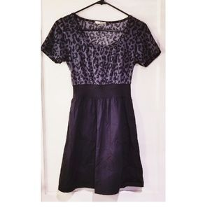 Purple/Grey & Black Leopard Print Dress 😻
